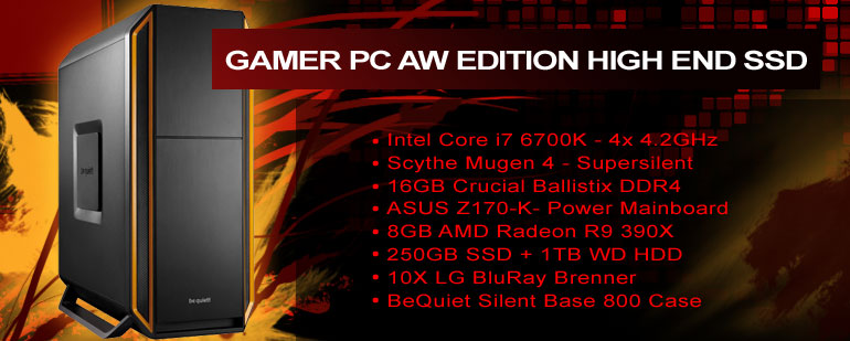 Gamer PC AW Edition High End SSD
